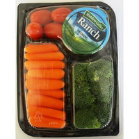 Taylor Farms Carrots, Tomatoes & Broccoli Snack Tray with Hidden Valley Ranch Dressing , 7 oz