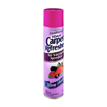 PowerHouse Foam No Vacuum Berry Fresh Carpet Refresher
