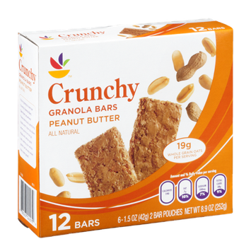 Ahold Crunchy Granola Bars Peanut Butter - 12 CT