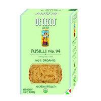 De Cecco Pasta, Fusilli No. 34, 100% Organic, 16-Ounce Boxes, (Pack of 5)