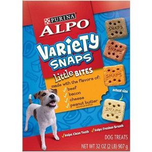 ALPO® VARIETY SNAPS® Little Bites With Beef, Bacon, Cheese & Peanut Butter Flavors Dog Treats