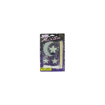 Bulk Buys Glow in the dark moon and star mobile kit - Pack of 24