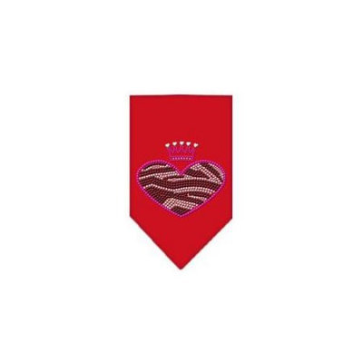 Ahi Zebra Heart Rhinestone Bandana Red Small