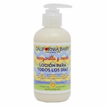 California Baby Manzanilla y Menta Locion para Todos Los Dias / Everyday Lotion, Chamomile & Mint, 6.5 oz