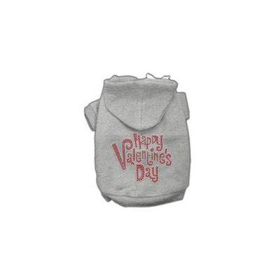 Mirage Pet Products 54-85 LGGY Happy Valentines Day Rhinestone Hoodies Grey L - 14