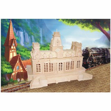 Puzzled Train Station Wood Puzzle Ages 9+, 1 ea