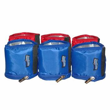 Maranda Enterprises Flexifreeze Refreezable Can Coolers - Red/ Blue