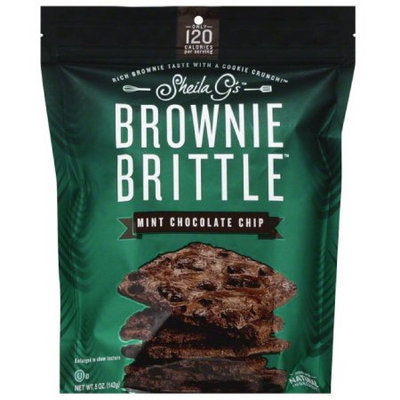 Sheila G's Mint Chocolate Chip Brownie Brittle, 5 oz, (Pack of 12)