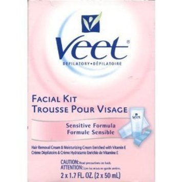 Veet Facial Kit Sensitive Formula 2 x 1.7 oz., 6-Pack