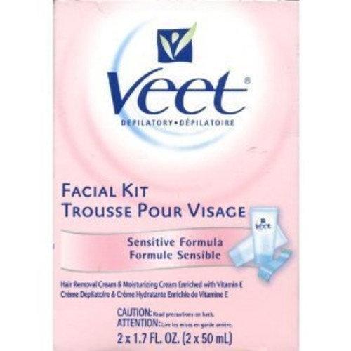 Veet Facial Kit Sensitive Formula 2 x 1.7 oz., 6-Pack