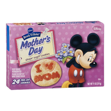 Pillsbury Ready To Bake! Mother's Day Shape Disney Sugar Cookies - 24 CT