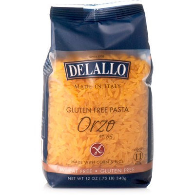 Delallo Orzo Gluten Free No. 65 12 Oz Pack Of 12