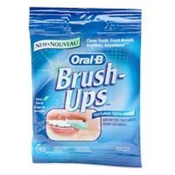 Oral-B Brush-ups, Textured Teeth Wipes, 12 wipes