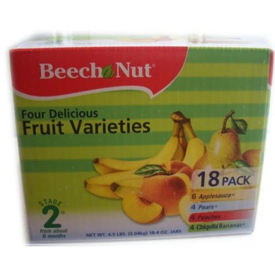 Beech-Nut Beech Nut Baby Food Fruit Varieties Stage 2 -18 Pack 4 oz
