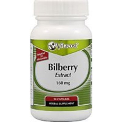 Vitacost Brand Vitacost Bilberry Extract - Standardized -- 160 mg - 90 Capsules
