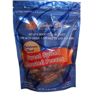 Laxmi's Delights Sweet Spiced Roasted Pecans, 4-Ounce (Pack of 3)
