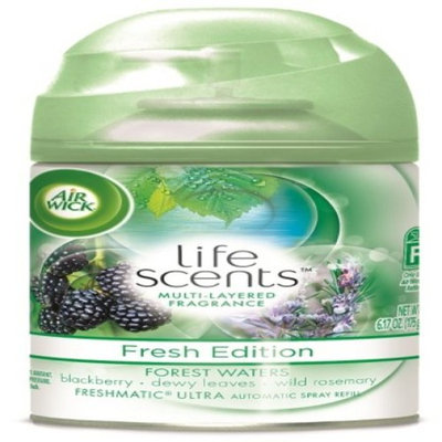 AIR WICK® Air Wick Freshmatic Ultra - Refill Life Scents™ Forest Waters (Blackberry/Dewy Leaves/Wild Rosemary) 6.17 oz.