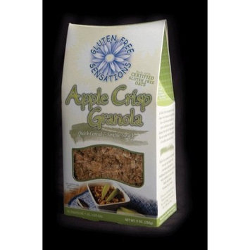Gluten Free Sensations Apple Crisp Granola 9 oz (Pack of 6)