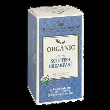 Harrisons & Crosfield Organic Hearty Scottish Breakfast Tea 20 English Style Tea Bags