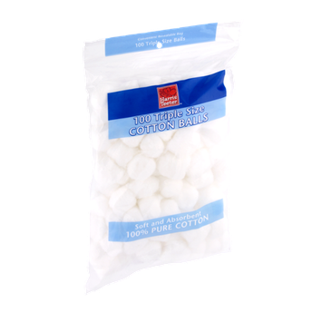Harris Teeter Cotton Balls 100 Triple Size