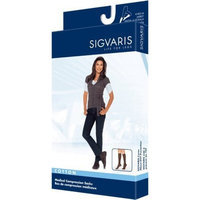 Sigvaris 230 Cotton Series 30-40 mmHg Women's Closed Toe Knee High Sock Size: X-Large Short, Color: Navy 10