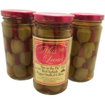 Generic Miss Leone's Fire in the Pit Red Turkish Pepper Stuffed Olives, 12 oz, 3 count