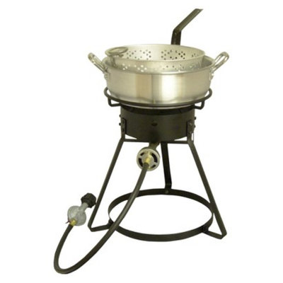 King Kooker Bolt Together Outdoor Cooker with Aluminum Fry Pan Package