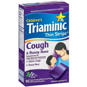 Triaminic Cough & Runny Nose Thin Strip, 14-Count Strips (Pack of 3)