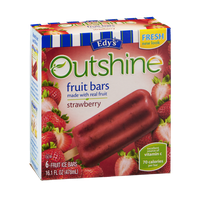 Edy's Outshine Fruit Bars Strawberry - 6 CT