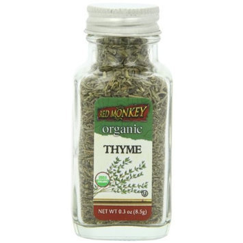 Red Monkey Foods Red Monkey Organic Thyme Leaves, 0.3 Ounce (Pack of 3)