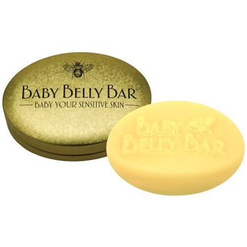Honey House Baby Belly Bar Natural Solid Lotion Bar 1.7 oz - New in Gold Tin Case