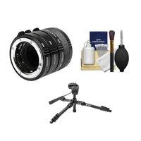 Kenko Macro Automatic Extension Tube Set DG + Tripod + Accessory Kit for Canon EOS Digital Rebel T4i, T3i, T3, T2i, 60D, 7D, 1Ds, 1D X, 5D Mark II, III Digital SLR Cameras