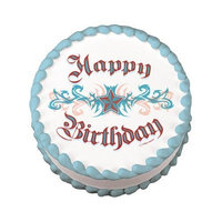 Lucks Edible Image Happy Birthday Tattoo, 1 ea Misc.
