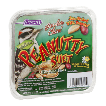 Brown's Garden Chic! Peanutty Suet For Wild Birds