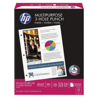 HP 3-Hole Punched 96 Brightness 20lb Letter Sized Multipurpose Paper -
