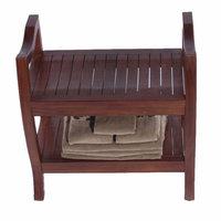 Dakotah Pillow Decoteak LiftAide Contemporary Teak Spa Shower Bench