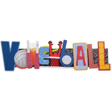Karen Foster Design, Llc. Karen Foster Volleyball Stacked Statement Sticker, 2.5