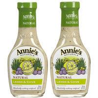 Annie's Naturals Lemon & Chive Dressing Vinegar Free, 8 FL OZ (Pack of 6)