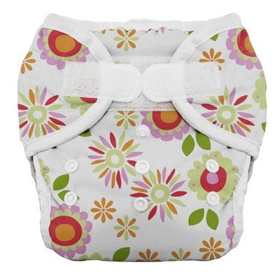 Thirsties Duo Diaper, Alice Brights, Size One (6-18 lbs)
