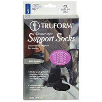 Truform Women's Trouser Mild (10-20mm) Support Socks with Knit Cable Pattern