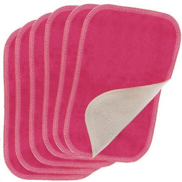 Blueberry by Swaddlebees 6 Piece Baby Cloth Wipes, Raspberry