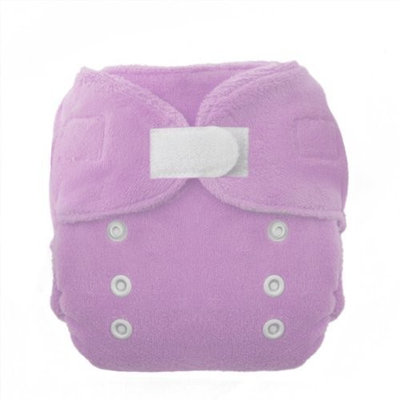 Thirsties Duo Fab Fitted Cloth Diapers, Orchid, Size Two (18-40 lbs) (Discontinued by Manufacturer)