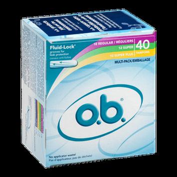o.b. Multi-Pack Tampons - 40 CT