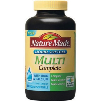 Nature Made Multi Complete Multivitamin with Iron & Calcium - 180 Liquid Softgels