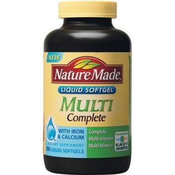 Nature Made Multi Complete Multivitamin with Iron & Calcium - 180 Liquid Softgels