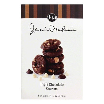 JM Foods TC71 Triple Chocolate Traditional Cookies 6 oz.