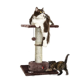Furhaven Cat Playground Scratching Post with Cat- IQ Busy Box