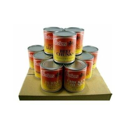 Yoders Yoder's Canned Premium Variety Pack (Beef, Chicken, Hamburger, Turkey, Pork, Pork Sausage) 12 Cans/Full Case
