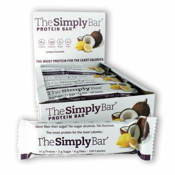 The Simply Bar Protein Bar Lemon and Coconut Case of 15 1.4 oz