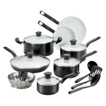 T-Fal T-fal 16 Piece Ceramic Cookware Set - Black